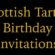 Scottish clan tartan birthday invitations