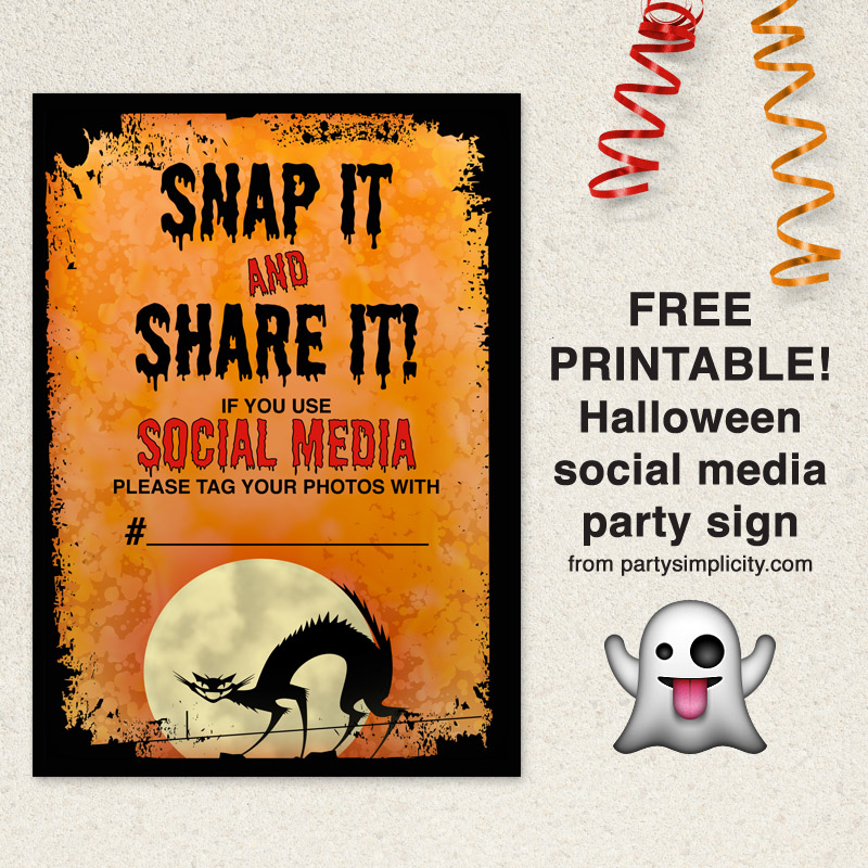 party simplicity free printable halloween party social media sign